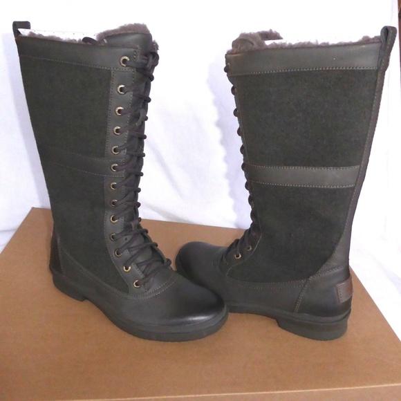 89a88bd80ee NEW UGG Elvia Slate Boots NWT
